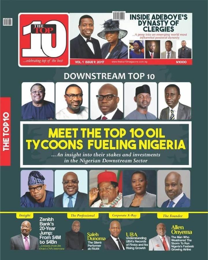 NIGERIA'S DOWNSTREAM TOP 10: ADENUGA, TINUBU, DANTATA, OGAH LEAD THEPACK