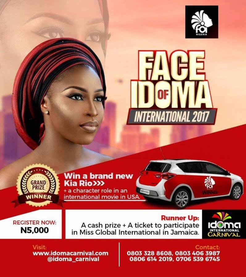Idoma International Carnival presents Face of Idoma international2017