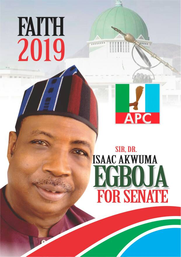 BENUE SOUTH 2019: GROUP APPROVES, BACKS DR. EGBOJA FOR SENATE